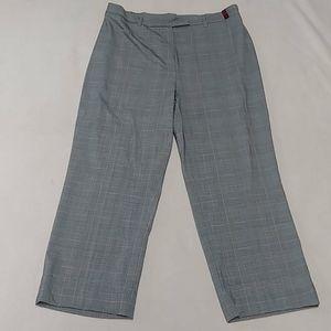 Women's Grey Plaid Trousers